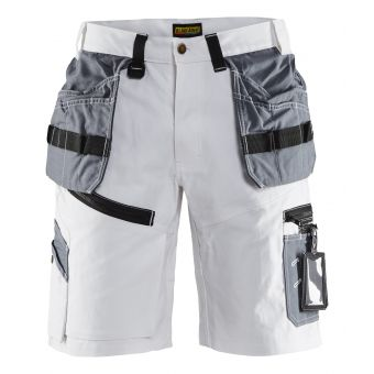 X1500 Painters Shorts White/Grey C52 | Tikkurila | Buy Paint Online| 151212101094C52|151212101094C52_X1500 Painters Shorts White Grey - Front.jpg