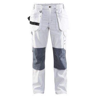 Ladies Painter Trouser White/Grey C42 | Tikkurila | Buy Paint Online| 713112101094C42|713112101094C42_Ladies Painter Trouser White Grey_Front.jpg