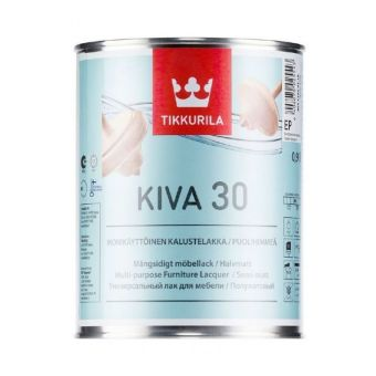 Kiva 30 - Semi-Matt Furniture Lacquer | Tikkurila | Buy Paint Online| 855 6404 0130|Tikkurila_Kiva_30_Furniture_Laquer_0,9L.jpg